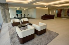 Daugherty - lobby - seating - offices done by Facilitec