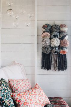 FAVOURITE MAKE – GIANT POM POM WALL HANGING