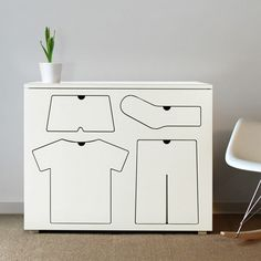 Training dresser by Peter Bristol helps kids organized with their clothes