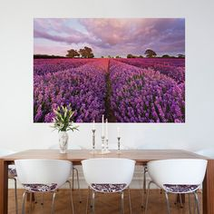 Brewster Home: Lavender Wall Mural, at 44% off!