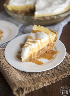 Caramel Banana Cream Pie Created with a Homemade Graham Cracker Crust, Sliced Bananas,a Layer of Caramel Topped with Banana Pudding,Whipped Cream & Finally Drizzled with Just a Bit of Caramel