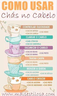 Como usar chás no cabelo?