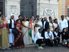 Indian music/dance crew at the Rome Immigrant Communities Festival