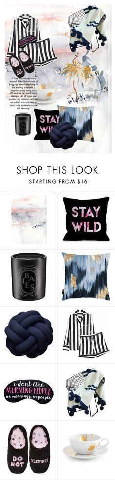 """Untitled #9"" by wafaxii ❤ liked on Polyvore featuring Oliver Gal Artist Co., Iris & Ink, PJ Couture and Jonathan Adler"