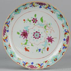 28CM 18C Chinese Porcelain Pre Bencharong Famille Rose Plate Lovely Chinese Porcelain pre Bencharong / Pre Nyonya plate/charger. We call this style Pre Bencharong because it has many features of later bencharong / south east asian wares, but it is older. Often these plates are dated to qianlong period 18th c. They are also in several books. More info on our website.