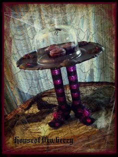 Witches Shoes Cake Stand How-to
