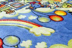 Dywan do dziecięcego pokoju Dziecięce Podróże. Kolorowy dywan dziecięcy z pięknym wzorem.