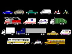 ▶ Street Vehicles - Cars and Trucks - The Kids' Picture Show (Fun & Educational Learning Video) - YouTube