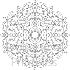 28. Flower Mandala printable coloring page. by PrintBliss on Etsy