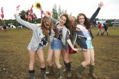 Visitors to the Isle of Wight Festival 2012 braved torrential rain, mud and traffic chaos, and still managed to look fabulous! Photo from NME.com.