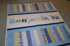 ideas for baby patchwork quilts Quilt Baby, Colchas Quilt, Baby Patchwork Quilt, Baby Quilt Patterns, Quilt Blocks, Children's Quilts, Baby Quilts For Boys, Patchwork Ideas, Strip Quilts
