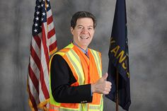 Kansas Gov. Sam Brownback participates in the Go Orange work zone safety campaign. Learn more about this safety effort at www.kdot.org. Social Services, Divorce, Religion, Sayings, Effort, Campaign, Safety