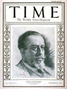 TIME Magazine Cover: Giulio Gatti-Casazza - Nov. 1, 1926 - Giulio Gatti-Casazza - Opera Managers - Opera - Music