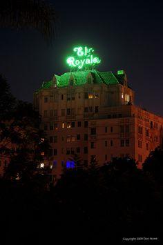 The El Royale neon sign, Rossmore Boulevard, Los Angeles