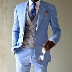 2018 Latest Coat Pant Designs Light Blue Casual Men Suit Slim Fit Tuxedo #menssuitscombinations