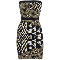Bcbg Max Azria Tribal Mini Dress In Tribal Look by None, via Polyvore