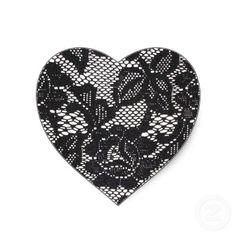 Black lace heart tattoo