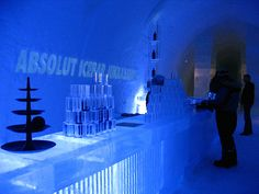 The Ice Bar at the Ice Hotel  If you love travel, like I love travel, follow my World Travel List  http://trip.worldtravellist.com