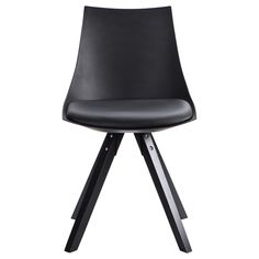 Dining chair with molded seat and attached cushion