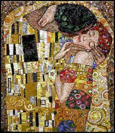 "I believe this is based on Gustav Klimt's ""The Kiss"" - love!"