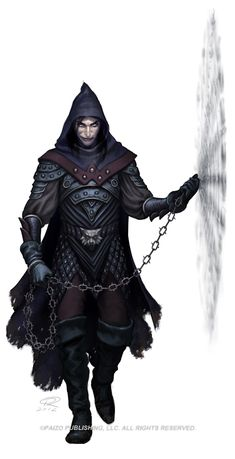 Captain Dronus - In League with the Necromancers Chain Mauler by *Akeiron on deviantART Fantasy Character Design, Character Concept, Character Inspiration, Character Art, Character Creation, Story Inspiration, Concept Art, Fantasy Male, Dark Fantasy
