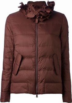 Brunello Cucinelli detachable collar padded jacket