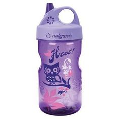 325a9a61 Nalgene GripnGulp Everyday Kids 12oz Water Bottle 2 Pack Pink Woodland ***  Be sure