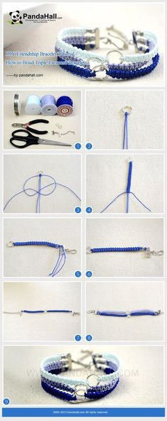 DIY Friendship Bracelet Tutorial - How To Braid Triple Paracord Bracelet . - DIY Friendship Bracelet Tutorial – How To Braid Triple Paracord Bracelet … beginner-way to make - Bracelet Friendship, Diy Friendship Bracelets Tutorial, Bracelet Crafts, Jewelry Crafts, Tatting Bracelet, Paracord Bracelets, Gelang Paracord, Macrame Bracelets, Diamond Bracelets