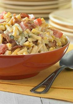 Picnic Macaroni Salad — This recipe is a new twist on macaroni salad. Bacon, tomatoes and pickle relish add loads of flavor to a picnic-perfect salad that's ready in just 20 minutes.