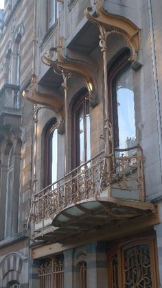 Balcony at the Horta Museum by Victor Horta 1897 - It's on my bucket list to visit Horta's museum someday.