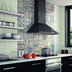 SomerTile 7.875x7.875-inch Borough Mondo Ceramic Wall Tile (Case of 25) (Borough Mondo), Blue, Size 8 x 8
