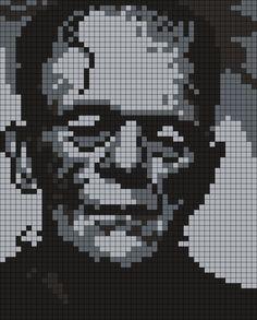 Frankenstein (Square) by Maninthebook on Kandi Patterns