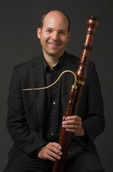 Dominic Teresi with a beautiful baroque Bassoon