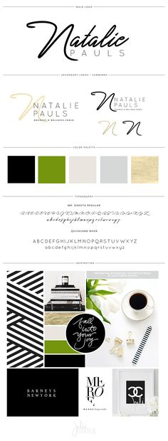 Natalie Pauls Brand Board by Julie Harris Design