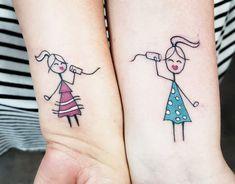 Sister tattoos, tattoos и friendship tattoos. Small Tattoos For Guys Arm, Small Rib Tattoos, Twin Tattoos, Small Sister Tattoos, Brother Tattoos, Small Shoulder Tattoos, Bff Tattoos, Small Tattoos With Meaning, Best Friend Tattoos
