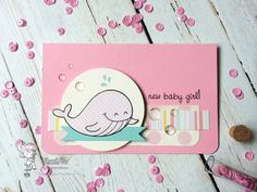 July New Release - Sea Creatures clear stamp set - card by Thanh for Your Next Stamp