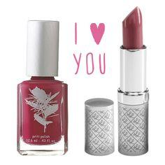 Duo maquillage lèvres & ongles - I love you ! Vernis à ongles non-toxique 4 free Love Lies Bleeding PRITI NYC & Rouge à Lèvres Naturel Love Affair LILY LOLO.  20€ - Offre Spéciale! #love #maquillage #nails #levres #pritinyc #lilylolo www.officina-paris.fr