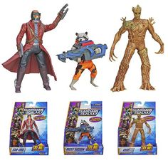 Marvel Guardians Of The Galaxy Rapid Revealers NEW Peter Quill Figure