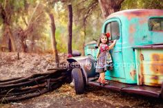 Toddler photo session, 2 year photo session, Child Photo session, Matilda Jane, Old Truck, Photo Session with old truck, Kari Green Photography
