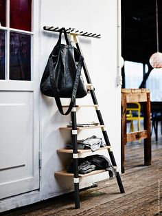 The IKEA PS 2014 Collection is all about space saving and this triangular leaning wall shelf by Keiji Ashizawa is a perfect example. It's a highly versatile, low cost shelving unit, which is ideal for. Ikea Ps 2014, Leaning Wall Shelf, Wall Shelves, Shelving, Ladder Shelves, Ikea Shelves, Floating Shelves, Small Space Living, Small Spaces