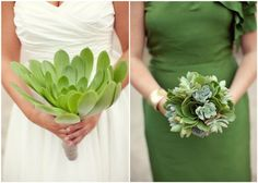 Very cool wedding-- succulents instead of flowers, and catering by In N Out!!