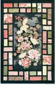 Image result for japanese quilts with panels