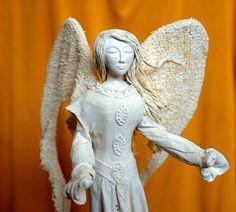Breeze angel sculpture original handmade gift home by SeaMessage