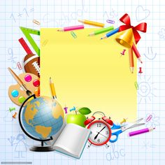 Wallpaper back to school, frame, reliable, stationery, tutorials