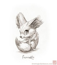 Fennekin | Drawings of Pokémon
