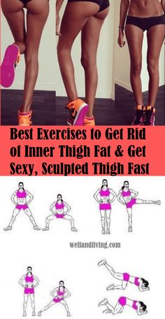 9 Exercises That Will Burn Your Inner Thigh Fat Fast In 2 Weeks Are you looking to have a toned, sculpted and attractive thigh? Engaging in these 9 thigh toning exercises will burn your inner thigh fat fast in 2 weeks Loose Leg Fat, Lose Thigh Fat, Lose Belly Fat, Lose Fat, Burn Fat Fast, Thigh Toning Exercises, Toning Workouts, Fitness Workouts, Stomach Exercises