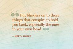 by Meryl Streep