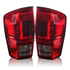 Winjet LED Tail Lights Toyota Tacoma (2016-2019) Gloss Black / Red / S – Redline360 Toyota Tacoma 2016, Dot Compliance, Dense Fog, Red Smoke, Driving Safety, Led Tail Lights, Traveling By Yourself, Bulb, Jeep Grand
