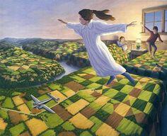 pinturas surrealistas de Rob Gonsalves.