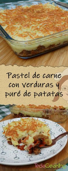 Pastel de carne con verduras - Staking Tutorial and Ideas Salad Recipes, Vegan Recipes, Broccoli Fritters, Barbacoa, Savoury Dishes, Camembert Cheese, Yummy Food, Meat, Cooking